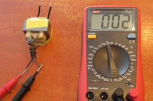 Как проверить трансформатор ток