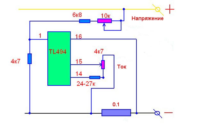 Зарядное устройство для автомобильного аккумулятора: схема