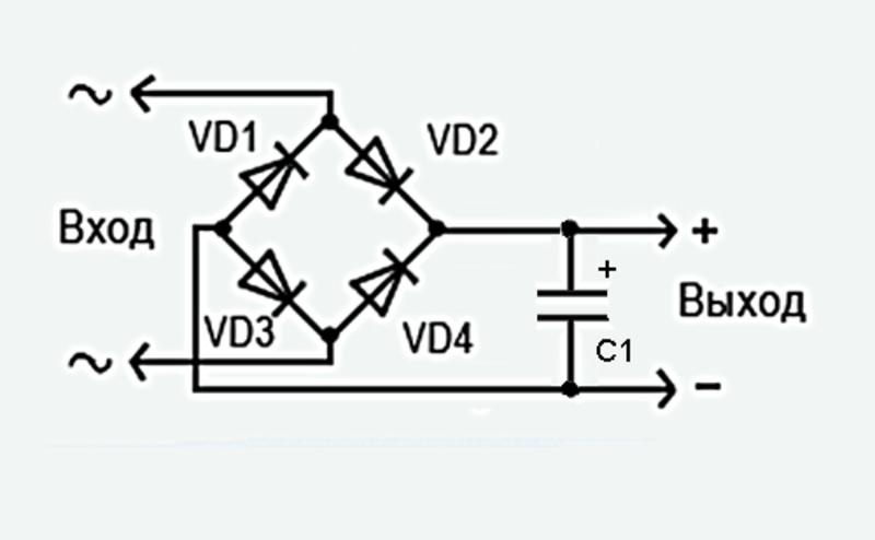 Схема диодного моста 12 вольт