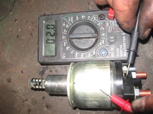 Проверить генератор тестером